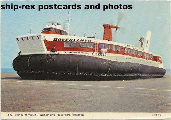 THE PRINCE OF WALES (Hoverlloyd) postcard